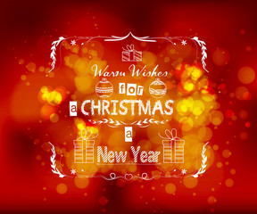warm wishes for a new year greeting card