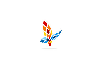 butterfly tech abstract vector logo