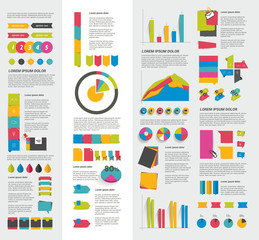 Big set of flat infographic elements.