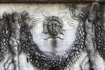 Medusa on a wall sarcophagus
