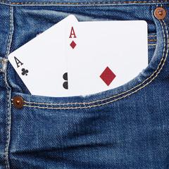 deck of cards in pocket