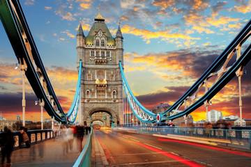 Photo sur Plexiglas Londres London, Tower Bridge