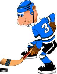 dropping hockey puck