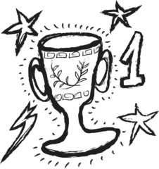 doodle winning trophy sport