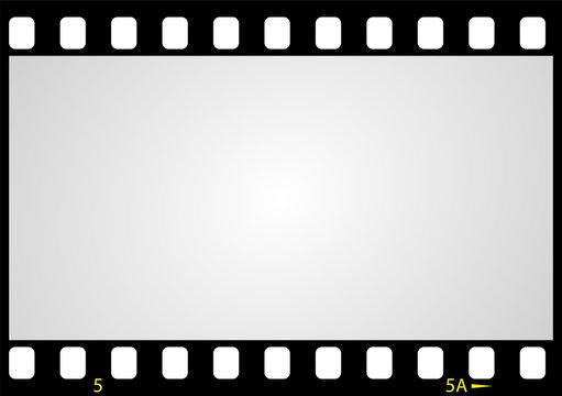 negative picture film frame, vector
