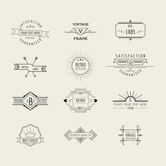 Set of Badges and Labels Elements - in vector