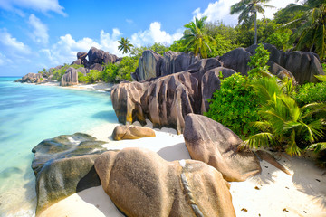 Wall Mural - Anse Source d'Argent beach, La Digue Island, Seyshelles