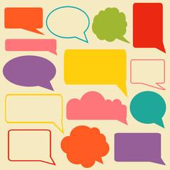 Set of speech bubbles. Infographic elements for your design.