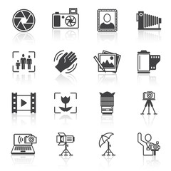 Photography icons black