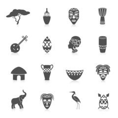 Africa icons set