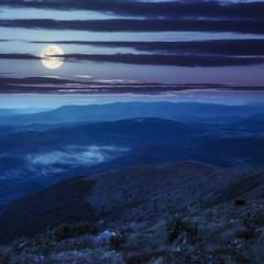 stones on the hillside at night