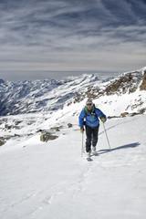 High Altitude Hiking - Stock Image