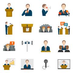 Public speaking icons