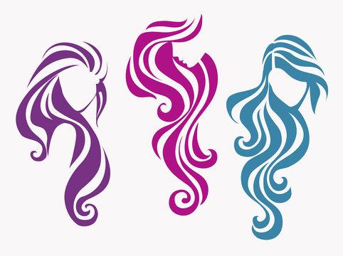 Female icons decorative