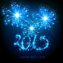 New Year 2015, easy editable