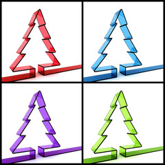 3D Christmas tree concept
