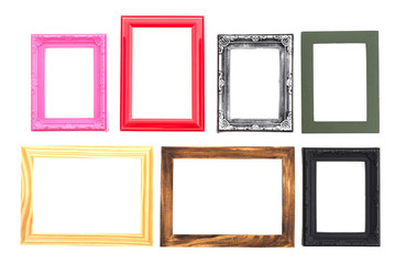 Frame isolated on white background