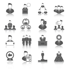Executive icons black