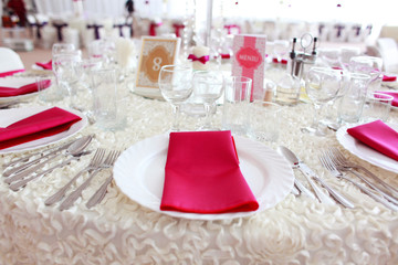 Beautiful wedding decoration table number