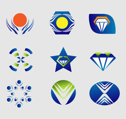 Design elements. Collection with icons for abstract logo