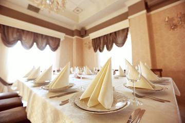 restaurant Wedding table  yellow room