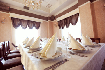 restaurant Wedding table  yellow room
