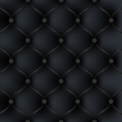 Black leather upholstery furniture. background