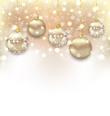 Christmas shimmering background with balls and copy space for yo