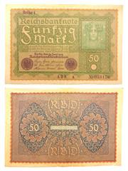 Inflationsgeld Reichsbanknote 1919 - Reihe 1