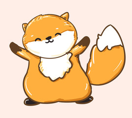 fat fox vector
