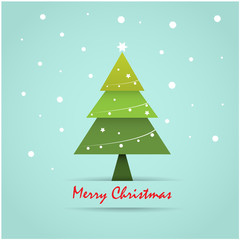 Christmas postcard template, holiday background