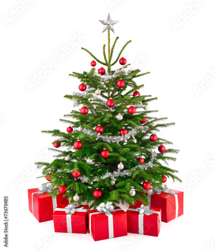 eleganter weihnachtsbaum mit geschenken stockfotos und lizenzfreie bilder auf. Black Bedroom Furniture Sets. Home Design Ideas