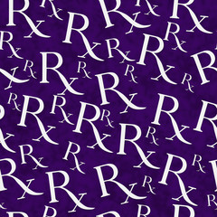 Purple and White Prescription symbol Pattern Repeat Background