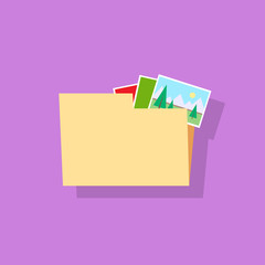folder document icon flat design vector