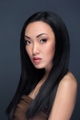 Beauty portrait of handsome asian model