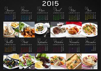 calendrier 2015 français (photos plats)