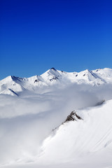 Winter snowy mountains at nice day