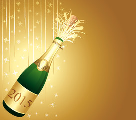 Joyful christmas and new year Champaign background.