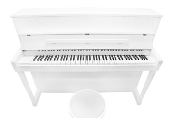 white piano, the view from the top