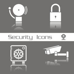 Iconos seguridad serie 1 FO reflejo