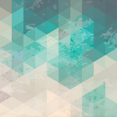Geometric background with grunge texture