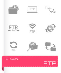Vector FTP  icons set