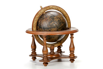 Nautical World Globe on Table Top Wooden Stand