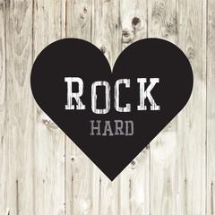 Poster Vintage Poster Hard Rock Concept Card