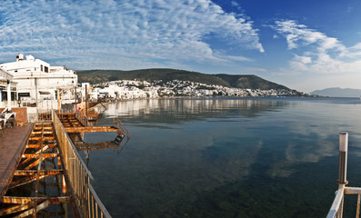 Bodrum, a popular coastal town in Aegean shores of Turkey