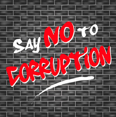 no corruption graffiti