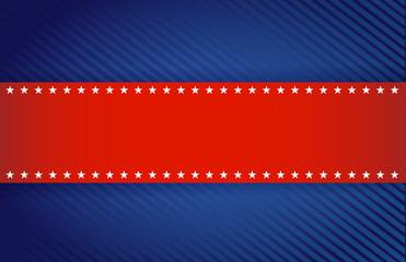 red and blue patriotic illustration design