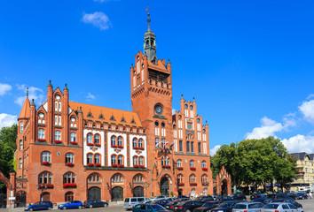 Fototapeta Neo-gothic Town Hall in Słupsk, Poland