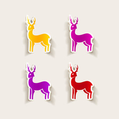 realistic design element: deer