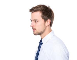 Side profile of businessman